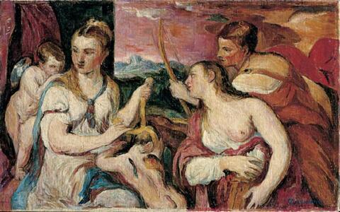 Hans Purrmann - Die Erziehung des Amor, nach Tizian (Galleria Borghese, Rom)