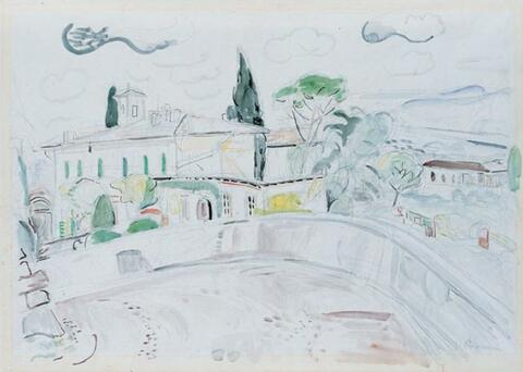 Hans Purrmann - Villa am Bellosguardo, Florenz