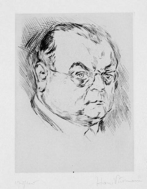 Hans Purrmann - Bildnis Erich Haarmann (II)