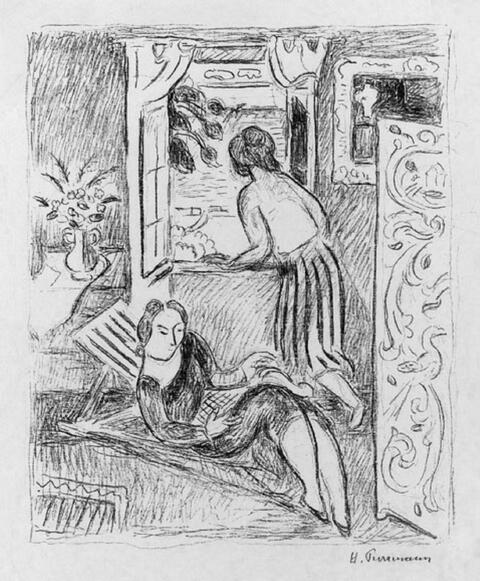 Hans Purrmann - Frauen am Fenster, Montagnola