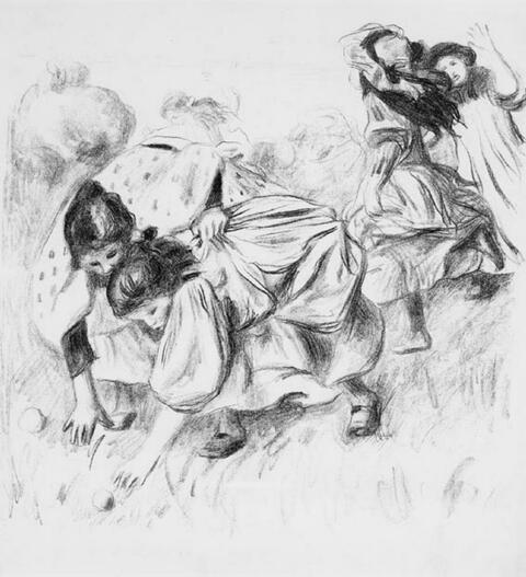 Pierre-Auguste Renoir - Enfants jouant à la balle