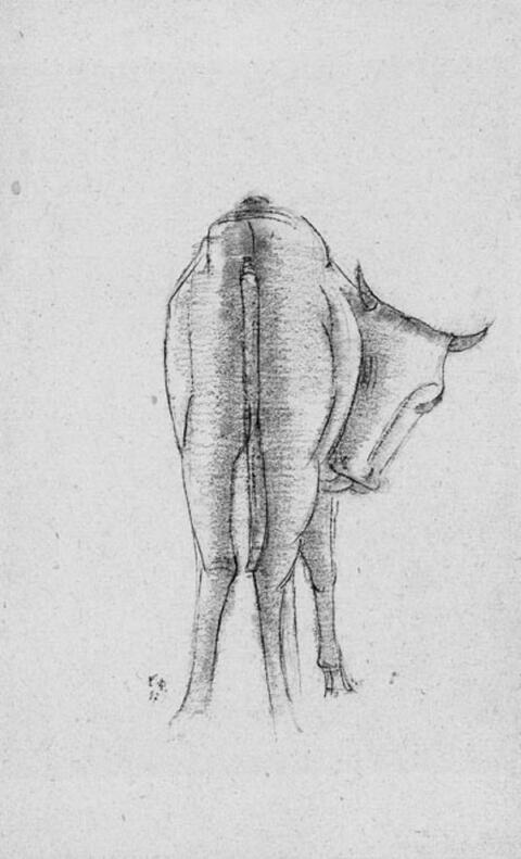 Emy Roeder - Stehendes Kälbchen, sich umgewendet das Fell leckend