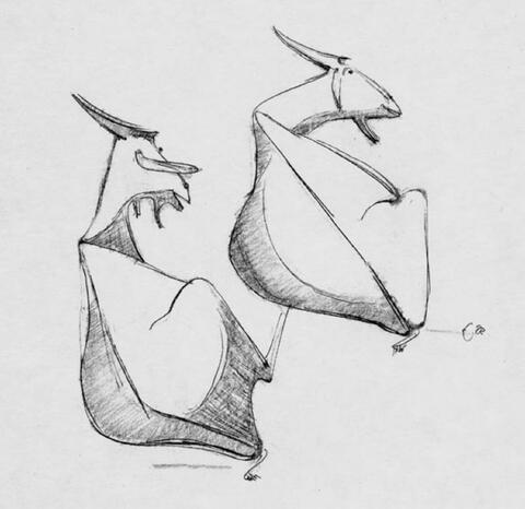 Emy Roeder - Zwei ruhende Ziegen