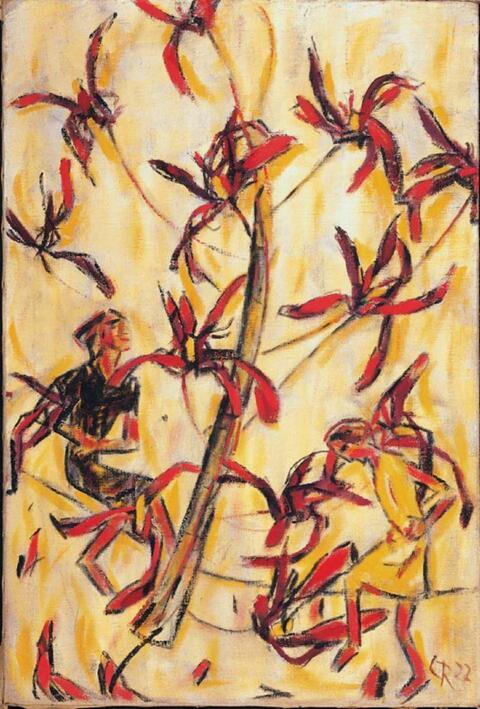 Christian Rohlfs - Tanz um den Blütenbaum