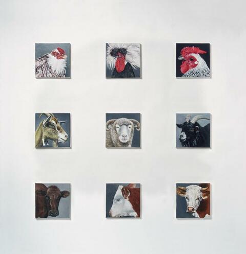Karin Kneffel - Ohne Titel (Tierköpfe)