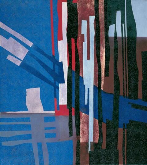Fritz Winter - Konstruktion Blau-Rot