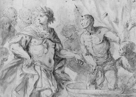 Giovanni Battista Tiepolo, Umkreis - DAS MARTYRIUM DES HL. VITUS.