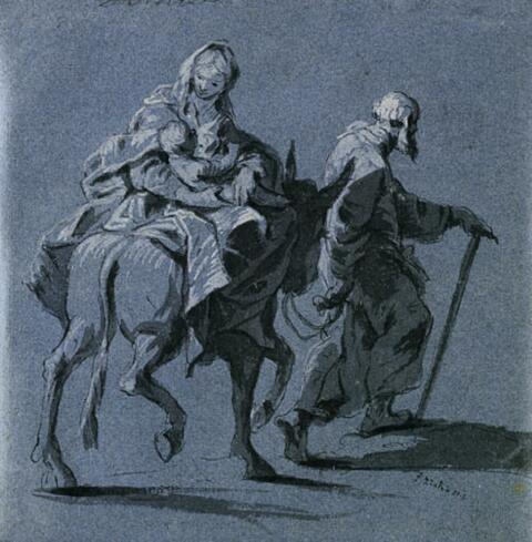 Januarius Zick - DIE FLUCHT NACH ÄGYPTEN.
