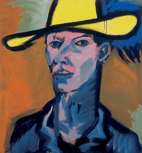 Rainer Fetting - Selbst mit gelbem Hut II