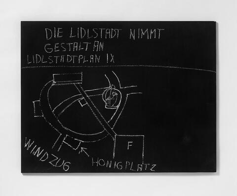 Jörg Immendorff - Die Lidlstadt nimmt Gestalt an. Lidlstadtplan IX