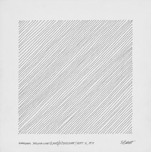 Sol LeWitt - Diagonal Yellow Lines