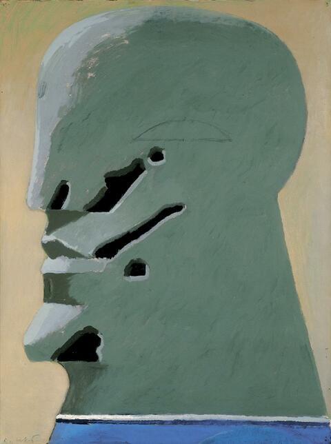 Horst Antes - Gesicht mit Wundmalen