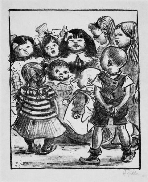 Heinrich Zille - Singende Kinder