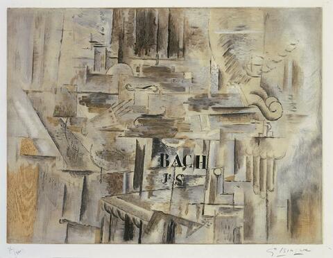 Nach Georges Braque - Hommage à J.S. Bach