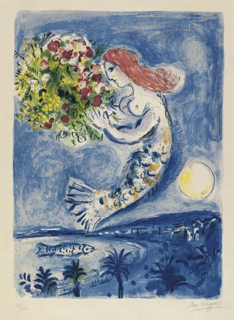 Marc Chagall - Die Bucht der Engel