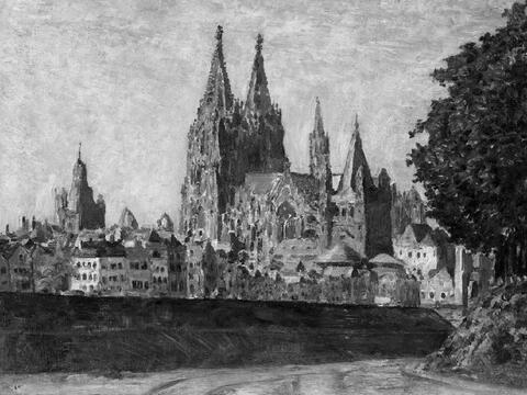 August Deusser - Blick auf Köln