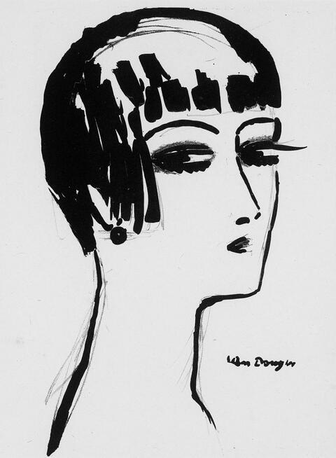 Kees van Dongen - Les cheveux courts