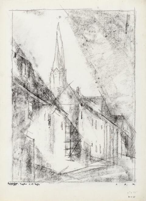 Lyonel Feininger - Strasse in Treptow an der Rega
