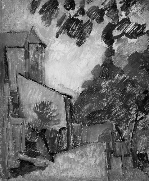Achille-Émile-Othon Friesz - Dorfpartie mit Kirche