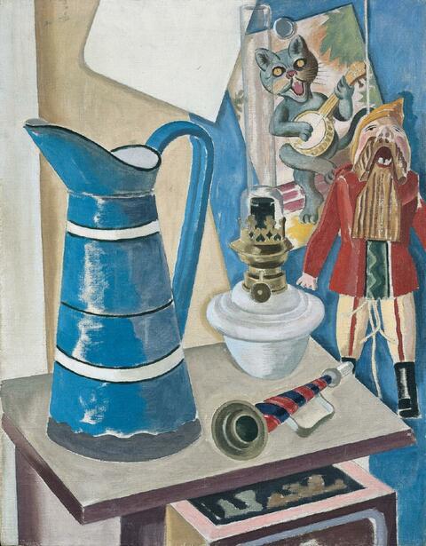 George Grosz - Stilleben mit Hampelmann