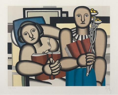 Nach Fernand Léger - La Lecture
