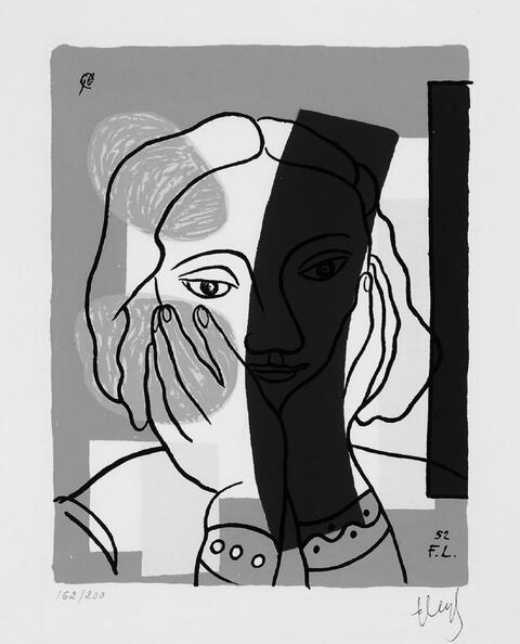 Nach Fernand Léger - Portrait de femme