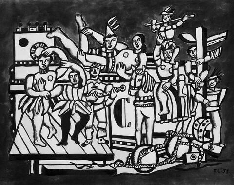 Nach Fernand Léger - Contrastes