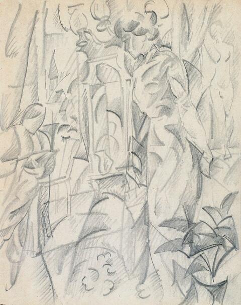 August Macke - Atelierszene I