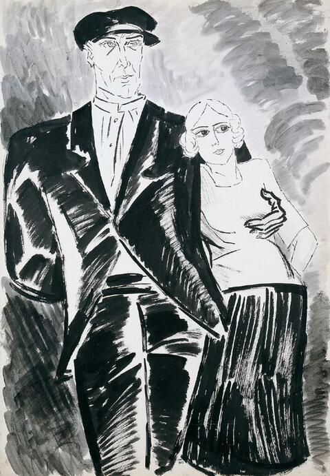 Frans Masereel - Couple