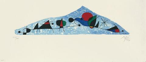 Nach Joan Miró - L'Oiseau s'enfuit vers les Pyramides