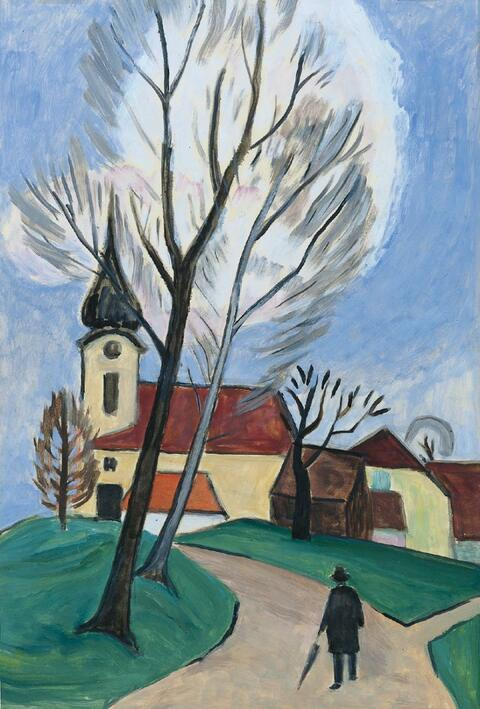 Gabriele Münter - Kirche im Dorf