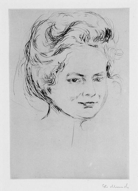 Edvard Munch - Frauenbildnis: Fräulein Harder