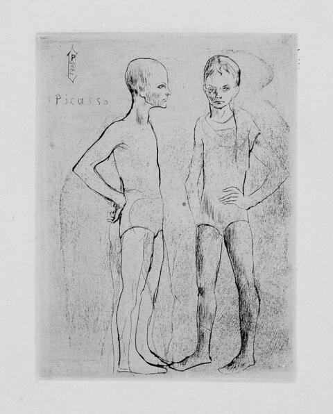 Pablo Picasso - Les deux Saltimbanques