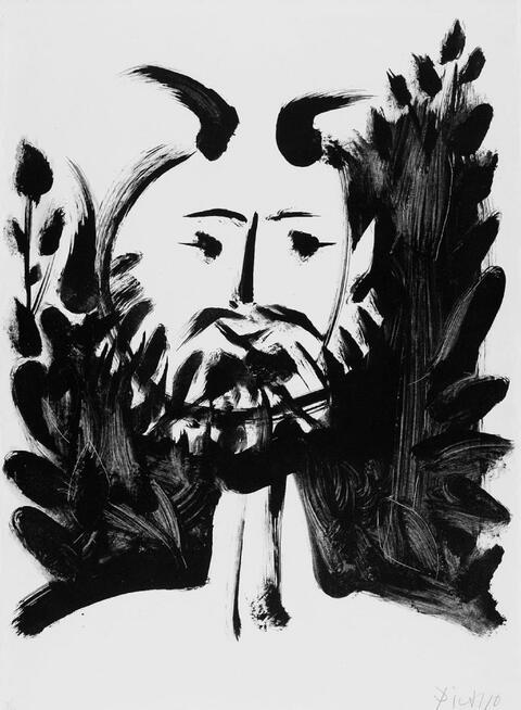 Pablo Picasso - Faune Souriant