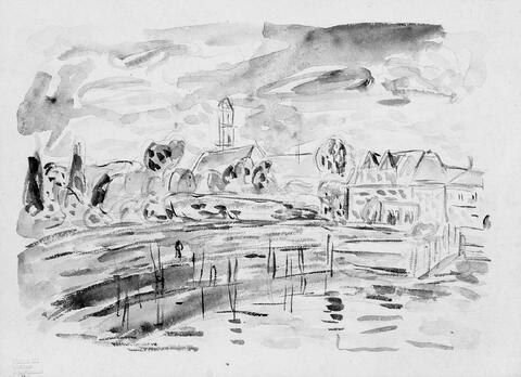 Hans Purrmann - Dorf am Wasser