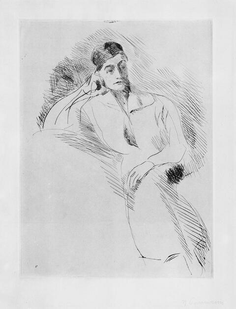 Hans Purrmann - Bildnis einer sitzenden Dame (II).Hans Vollmoeller auf dem Totenbett (II)