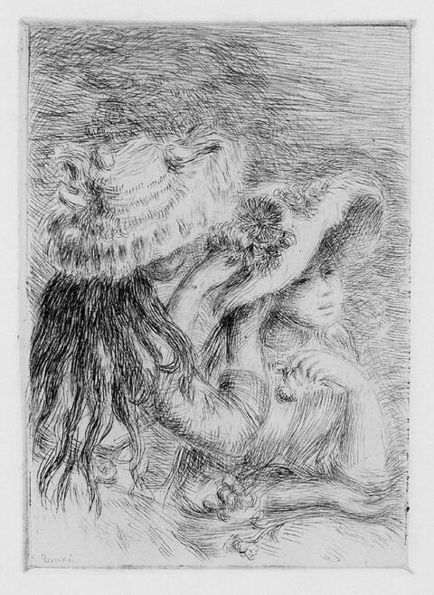 Pierre-Auguste Renoir - Le Chapeau épinglé (La fille de Berthe Morisot et sa cousine), 3e planche