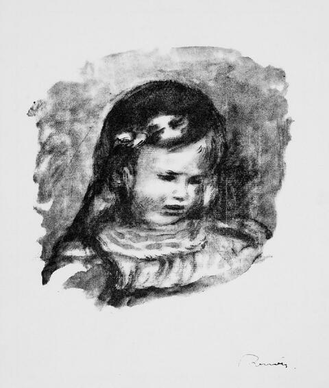 Pierre-Auguste Renoir - Claude Renoir, la tête baisée