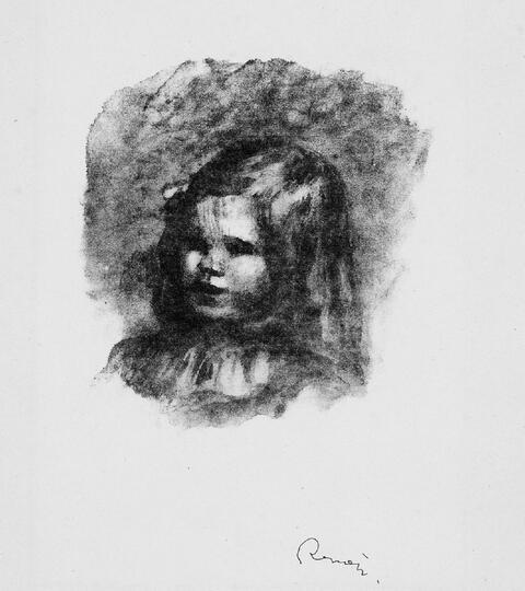 Pierre-Auguste Renoir - Claude Renoir, tourné à gauche