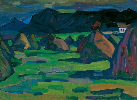 Wassily Kandinsky - Kornhausten (Murnau, Herbst)