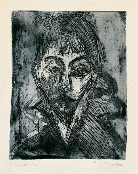 Ernst Ludwig Kirchner - Kopf Gerda (Porträt Gerda Schilling)