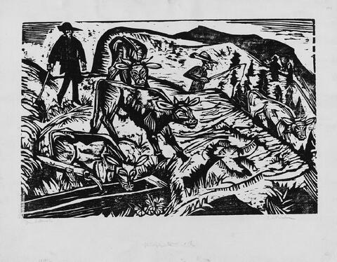 Ernst Ludwig Kirchner - Kühe und Hirten