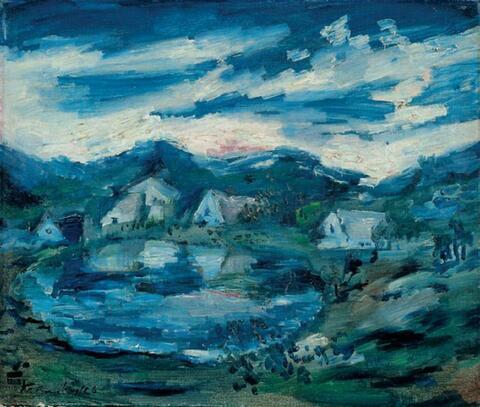 Bruno Krauskopf - Blaue Seenlandschaft