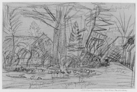 Otto Modersohn - Dorflandschaft mit Teich