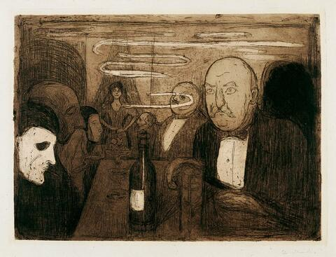 Edvard Munch - Kristiania-Boheme II