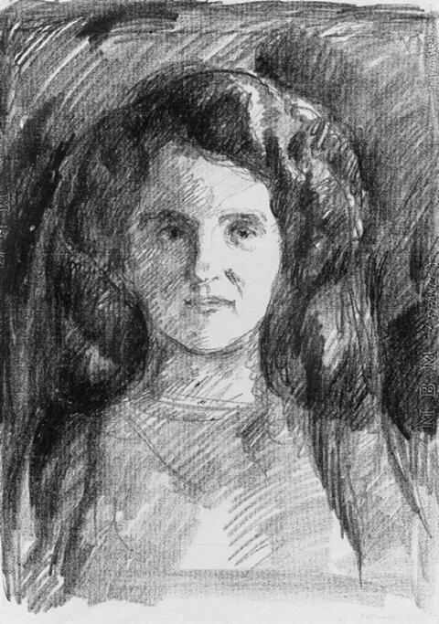 Edvard Munch - Dänische Dame