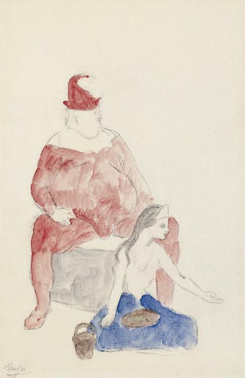 Pablo Picasso - Saltimbanque et jeune fille