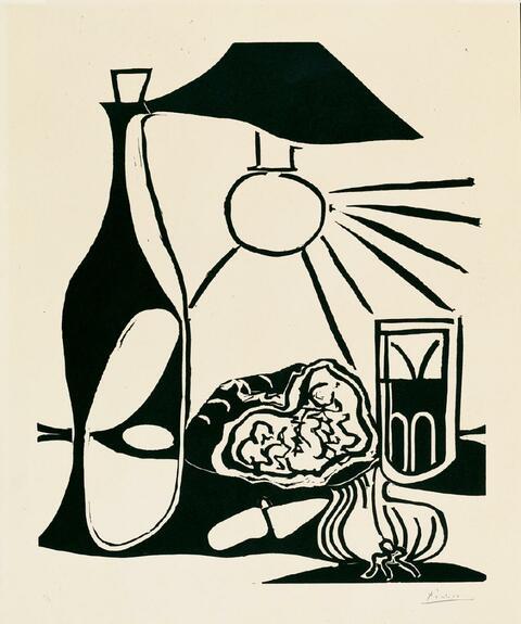 Pablo Picasso - Nature morte au casse-croûte II