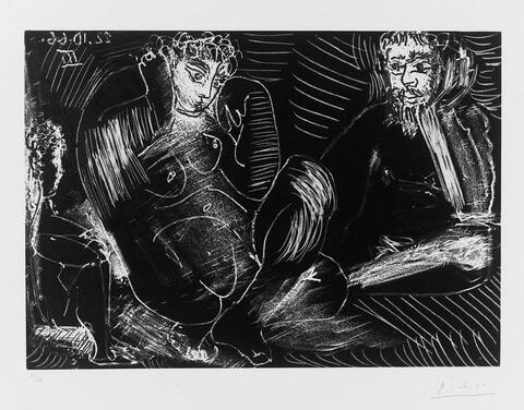 Pablo Picasso - Couple avec un Enfant