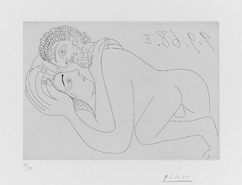 Pablo Picasso - Couple d'amoureux (Raphael et la Fornarina)